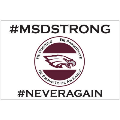 #msdstrong #neveragain charity yard sign